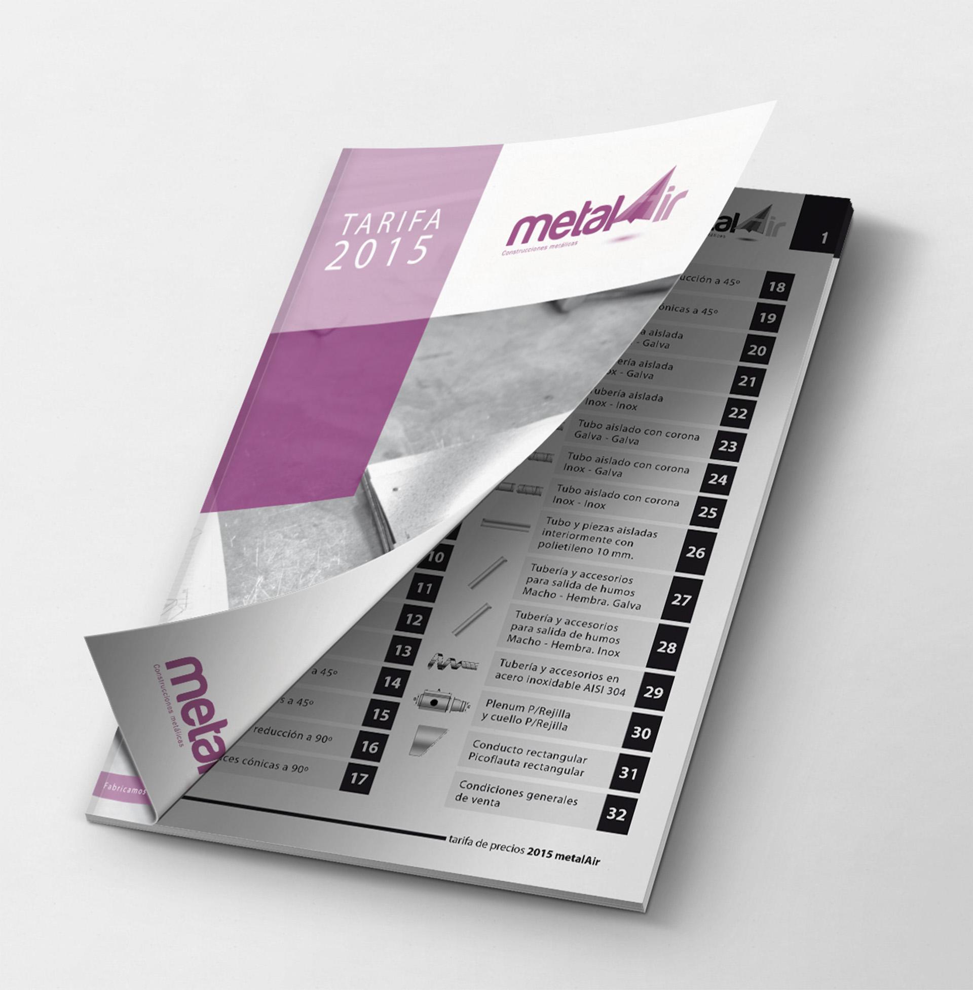 Creación de folletos y tarifas de precios para el Grupo Todaire