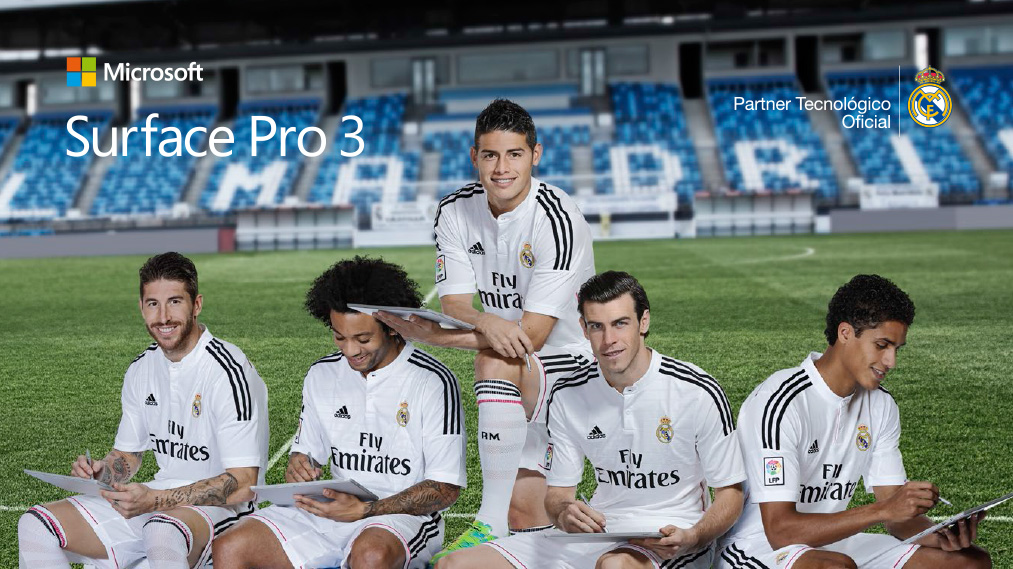 Campaña Surface con el Real Madrid