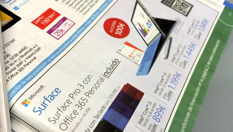 Inserción Surface en Revista Fnac Marzo Especial Telefonía