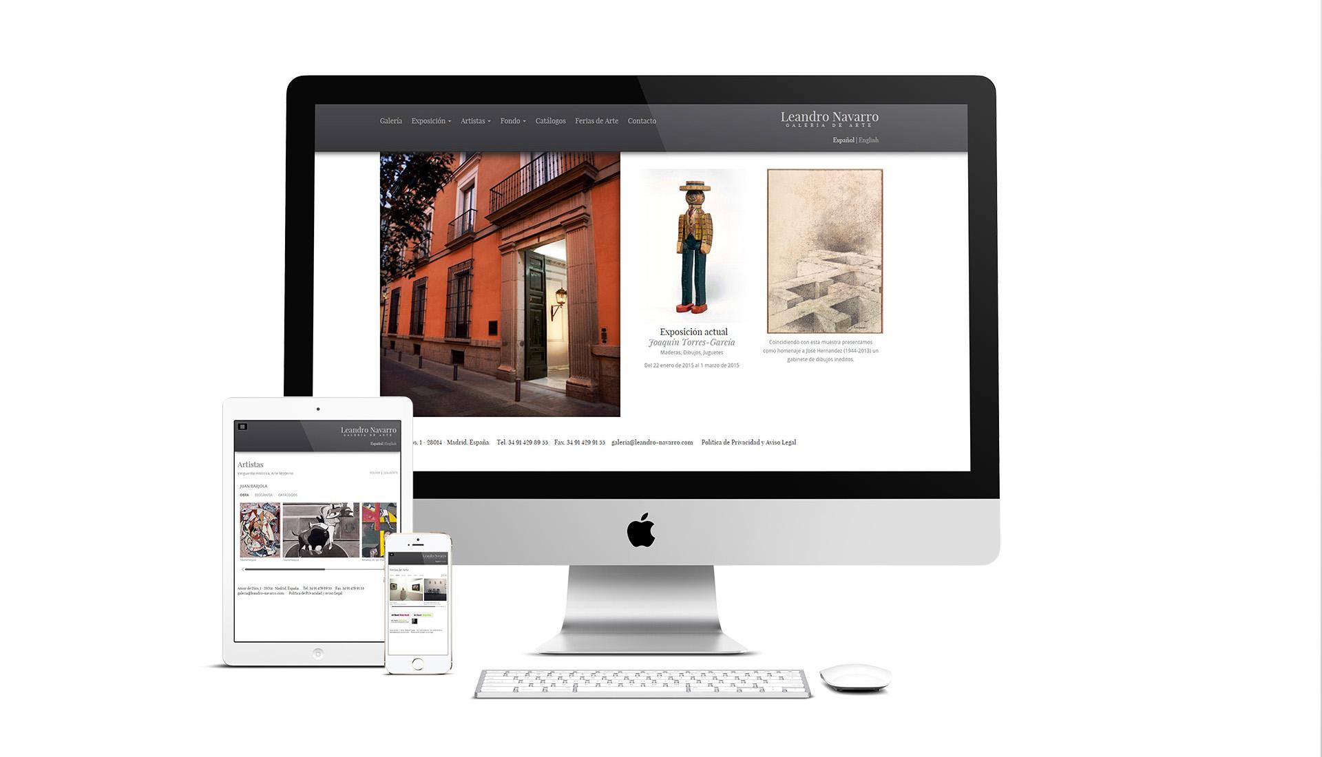 Creación de site en HTML5 para la Galería de Arte Leandro Navarro