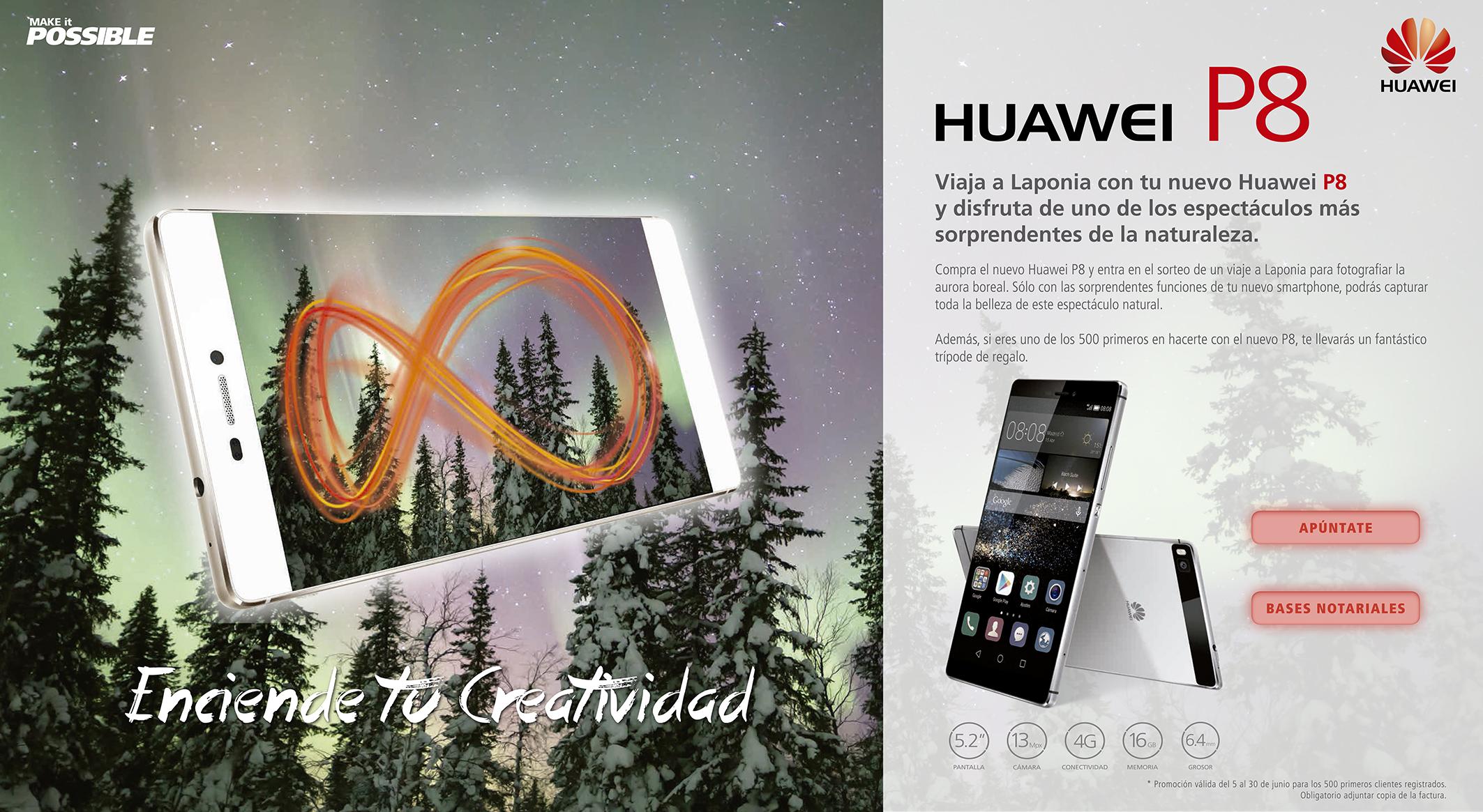 Huawei P8 Viaje a Laponia