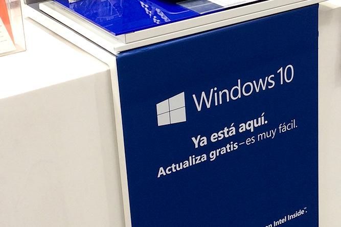 Piezas gráficas para retailer de lanzamiento Windows 10