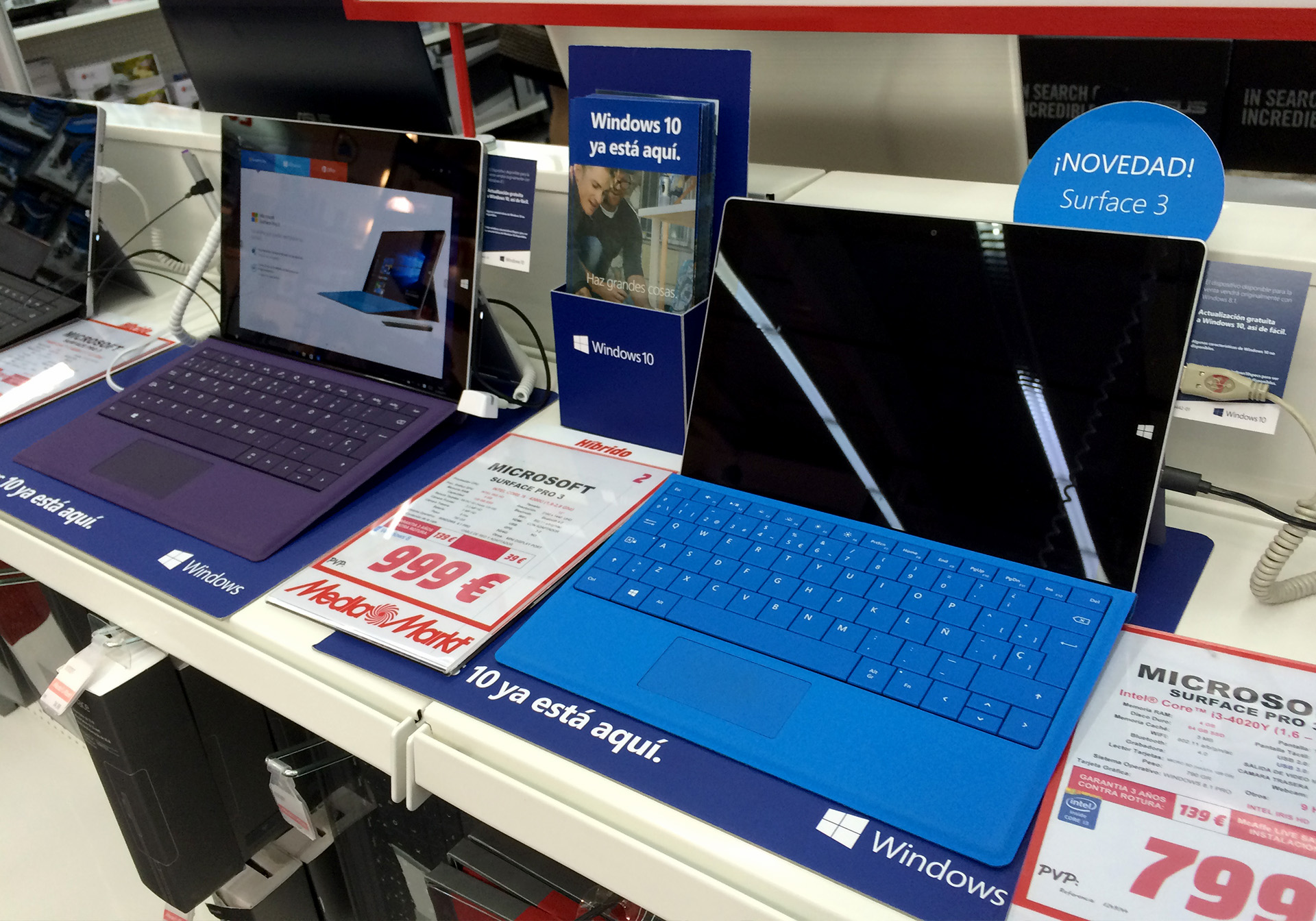 Piezas de Lanzamiento Windows 10