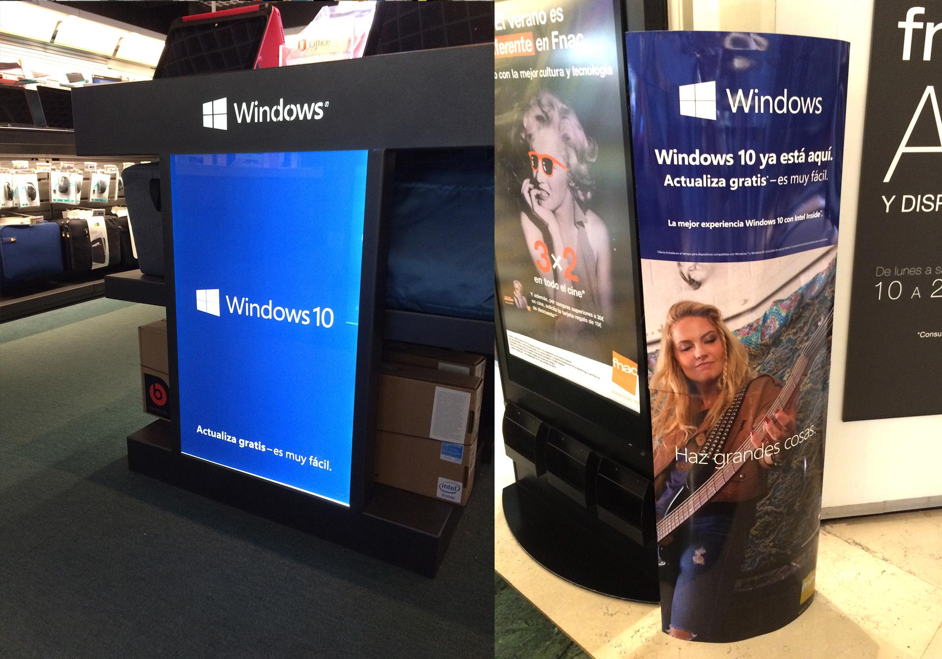 Piezas Plv de Lanzamiento Windows 10 para retailers