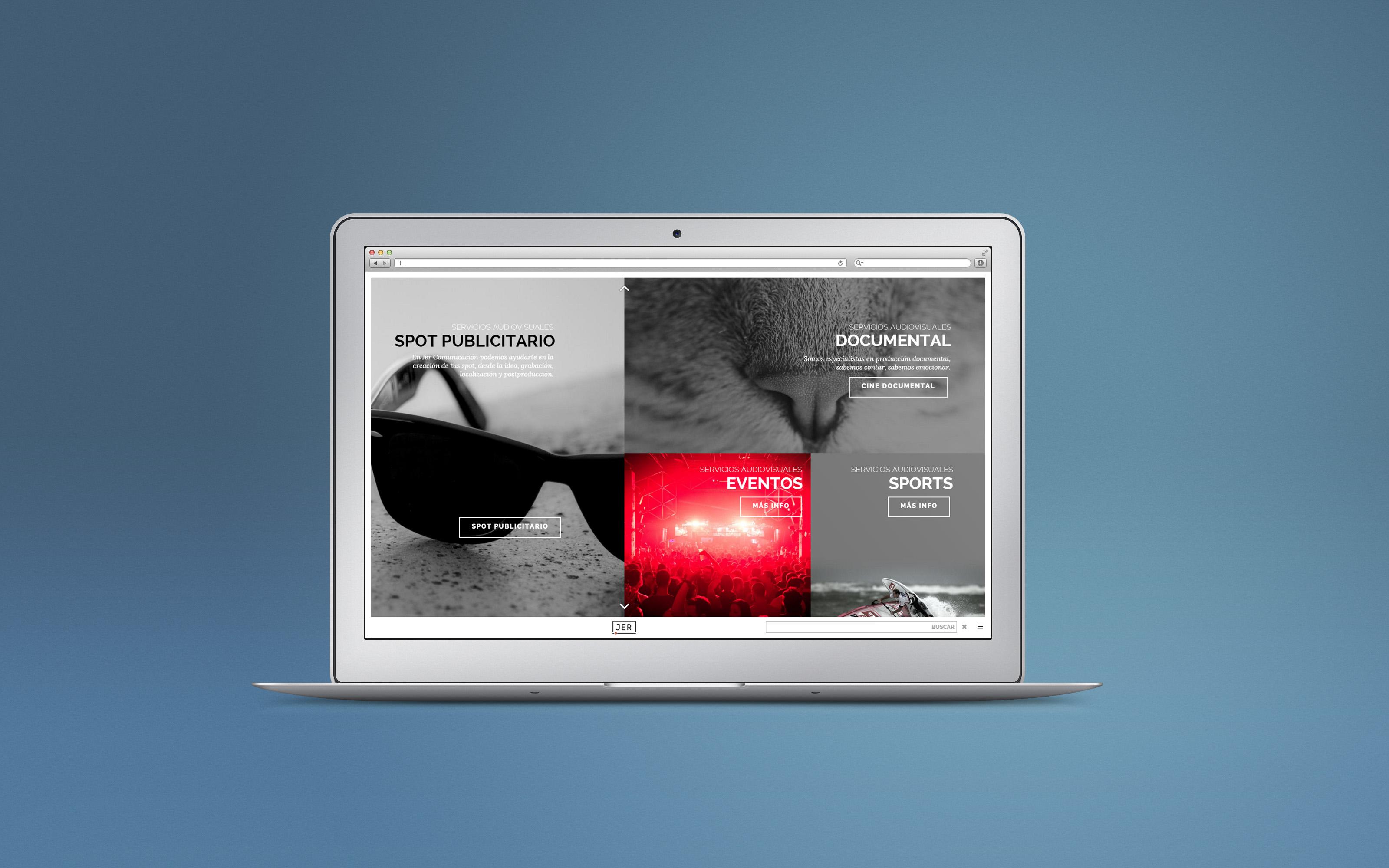 Página Web JER, responsive Wordpress