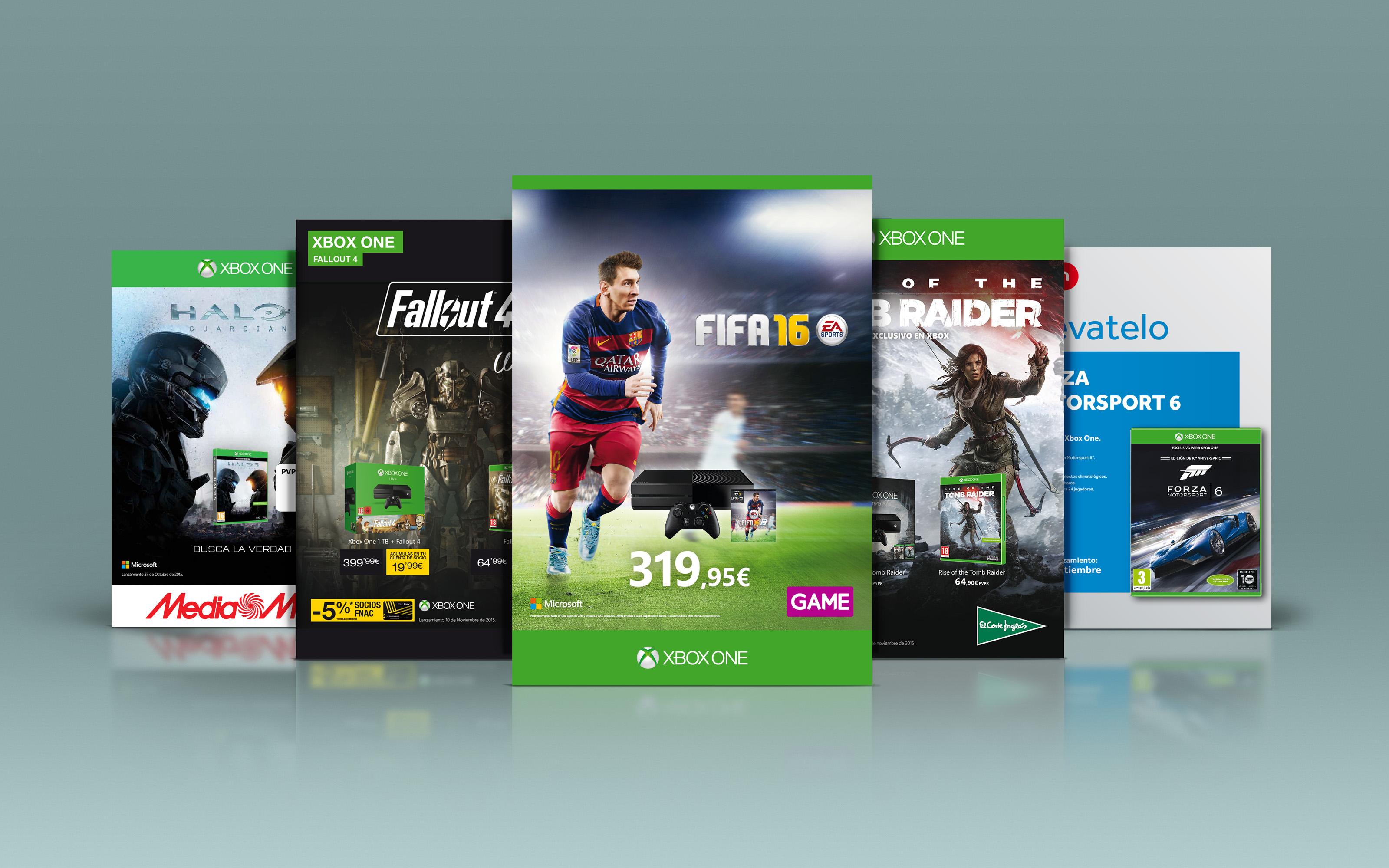 A4s para Tiendas de Lanzamientos de Juegos Xbox ONE