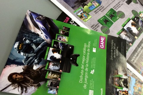 Lanzamientos Juegos Xbox One. PLV Tiendas