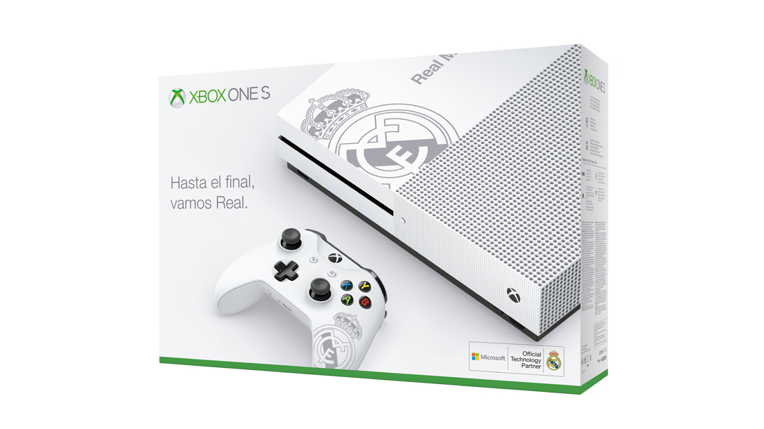 Packaging Xbox One S Real Madrid