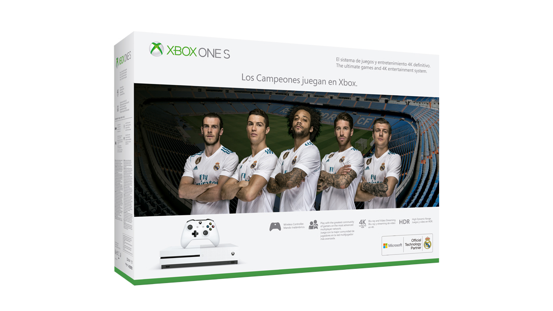 Trasera Xbox One S Real Madrid